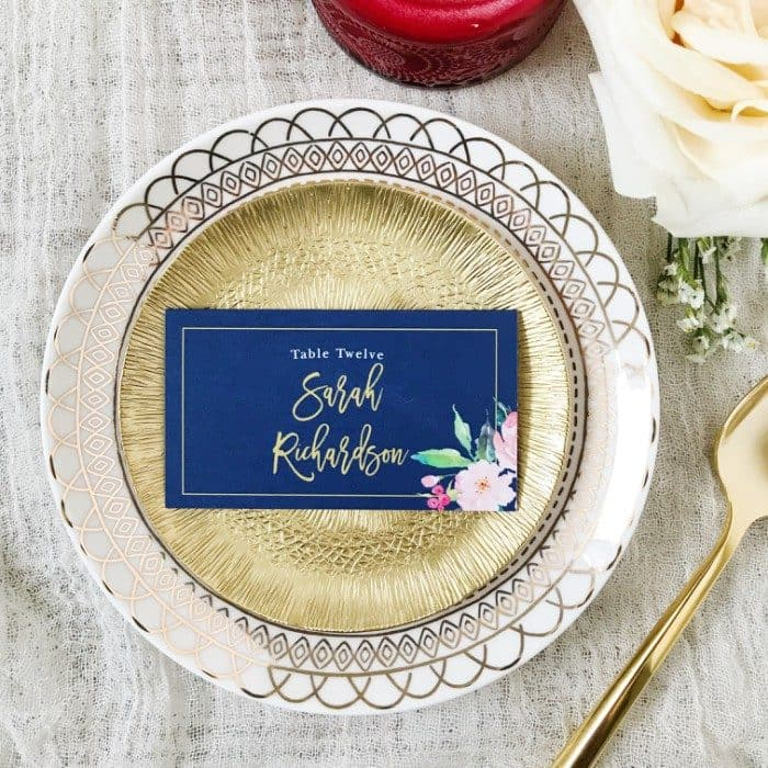 Printed Place Cards for Weddings