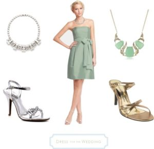 Soft Green Dress for Bridesmaids
