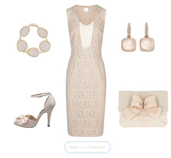 pale taupe dress