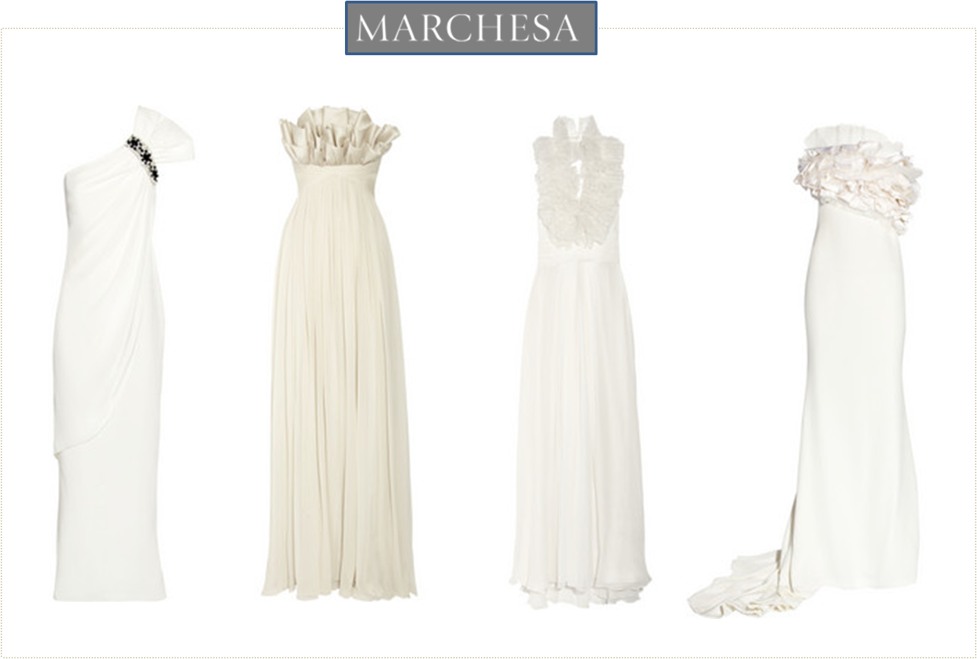 Bridal gowns marchesa for Marchesa wedding dresses prices