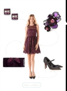 Purple Dress Post