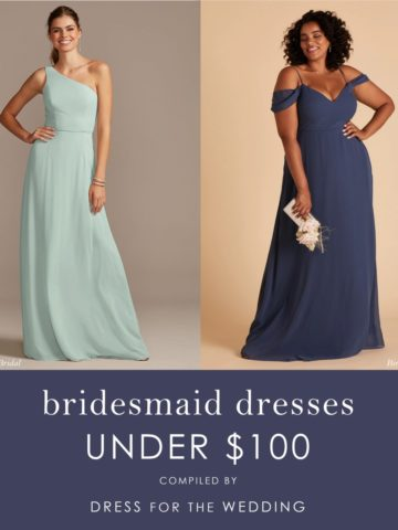 Two affordable bridesmaid dresses