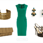 emerald green and gold accessories