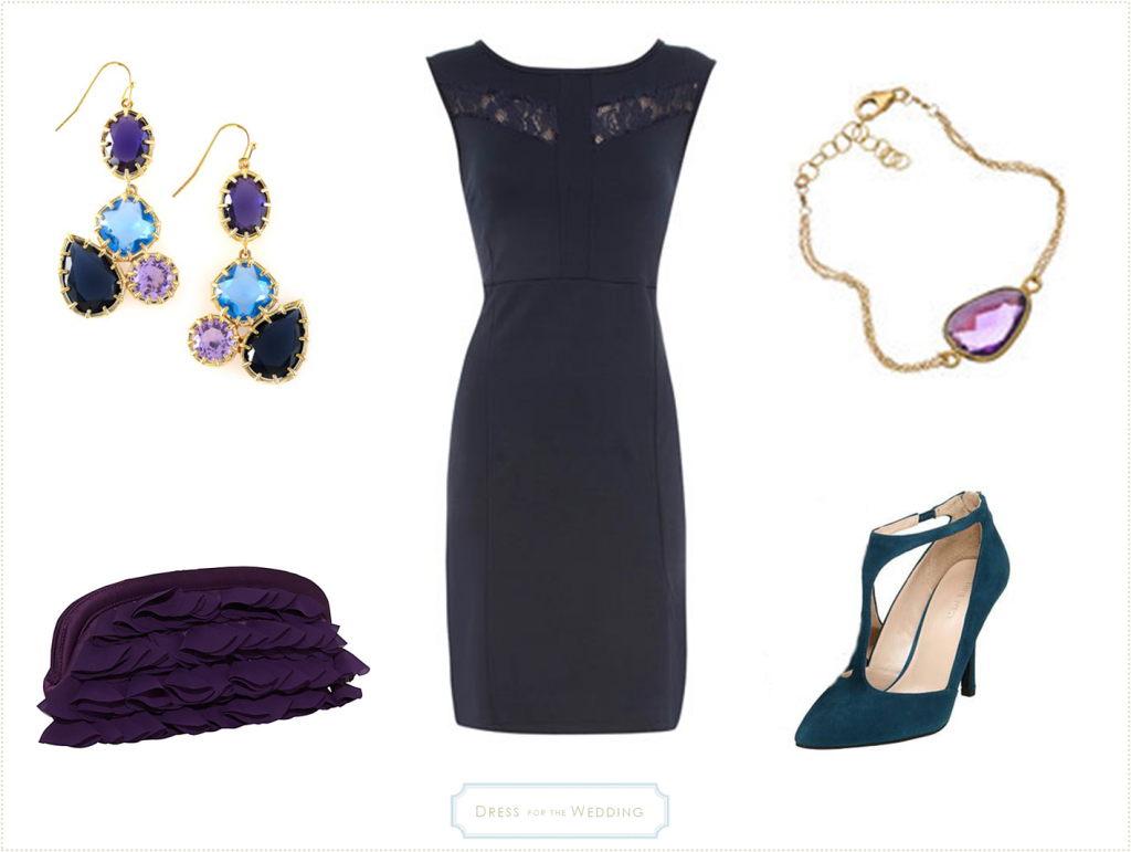 Navy dress for a fall wedding for Blue dresses to wear to a wedding