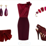 Wine Colored Dress for a Wedding