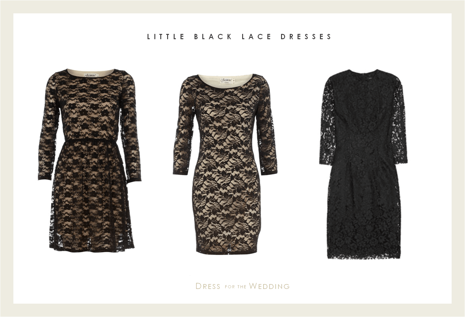 How To Accessorize A Black Lace Dress