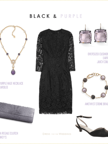 Black Lace with Lavender