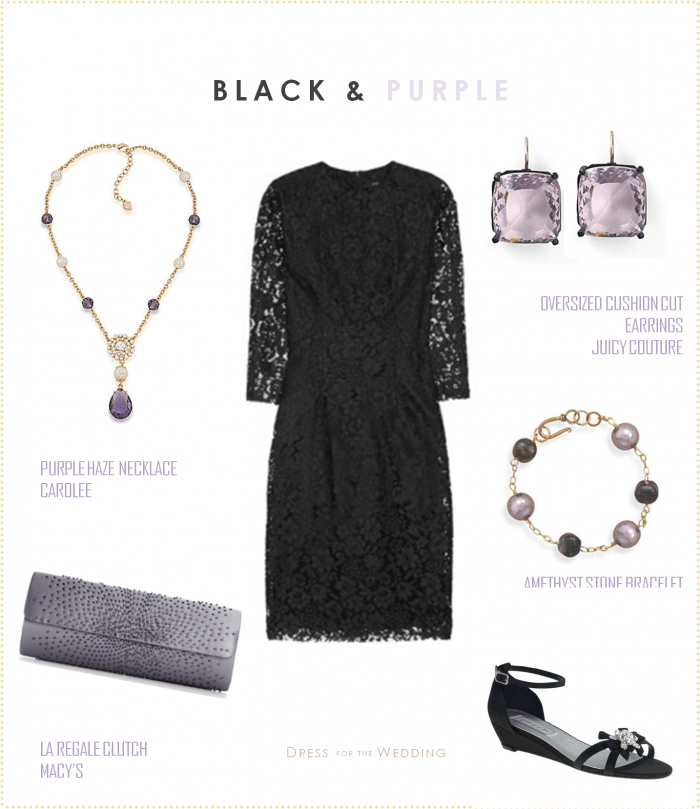 Black Dress and Lavender