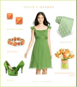 Green and Orange Wedding