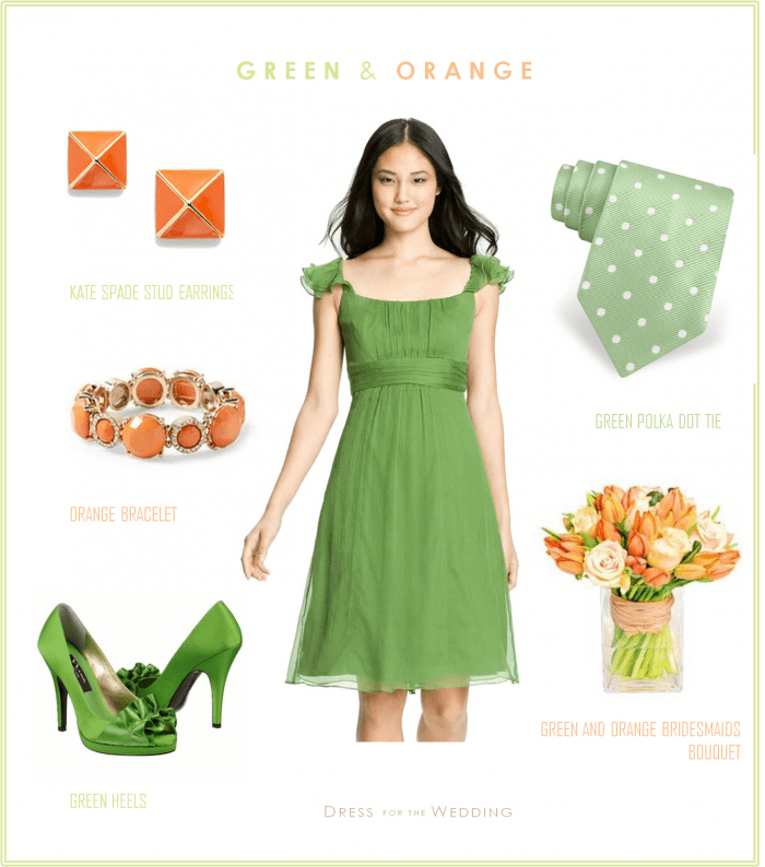 Green and Orange Wedding