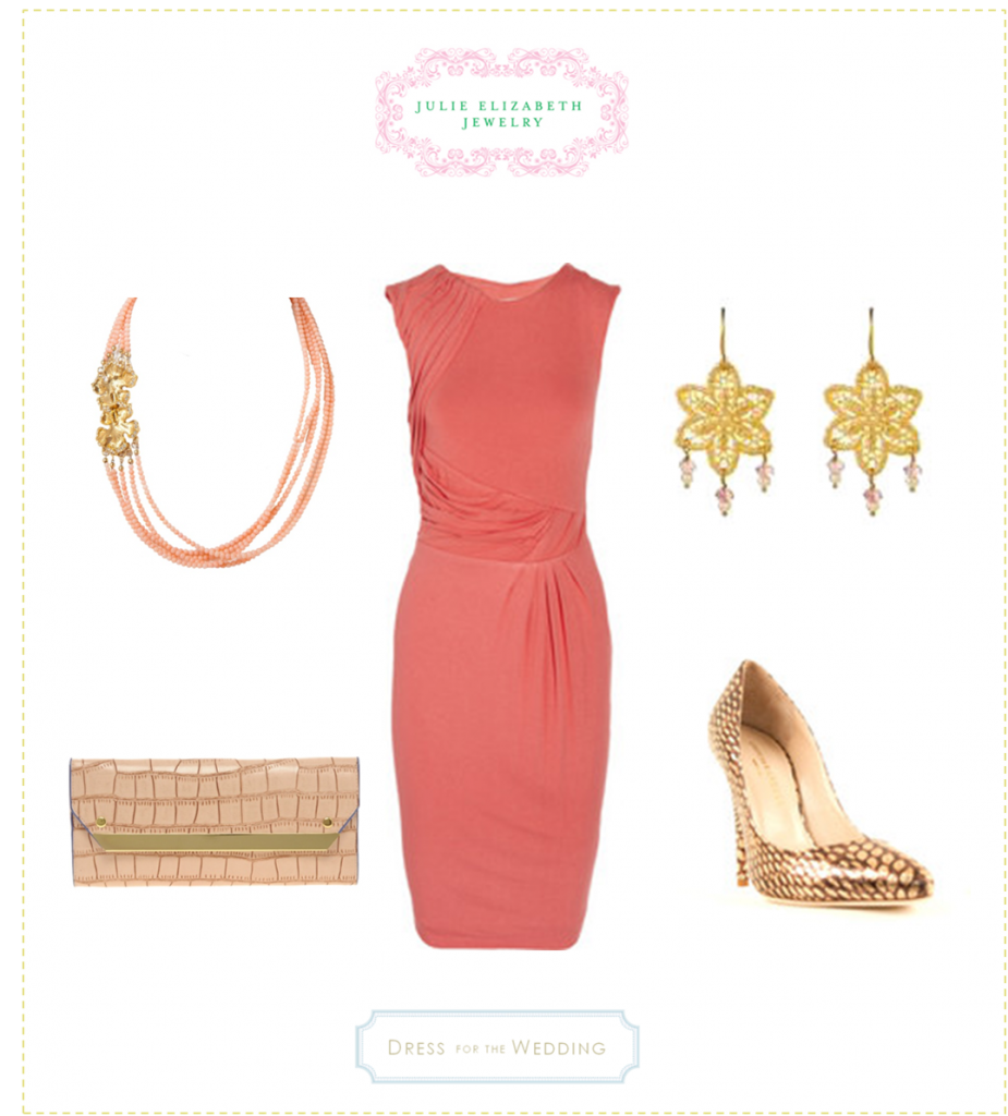 Pink Dress with Julie Elizabeth Jewelry