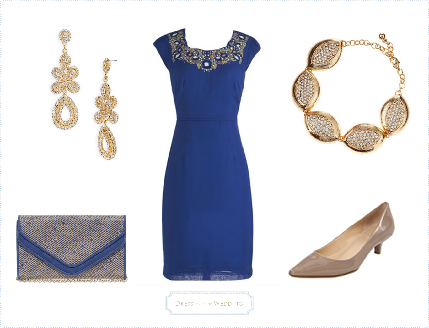 Royal Blue Dress For a Wedding Guest