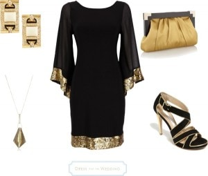 Black and Gold Dress – Art Deco Look for a Wedding