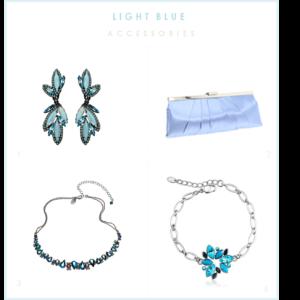 light blue accessories