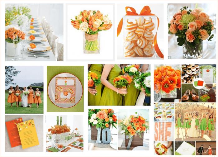 Orange And Green Wedding Invitations: Orange And Green Wedding
