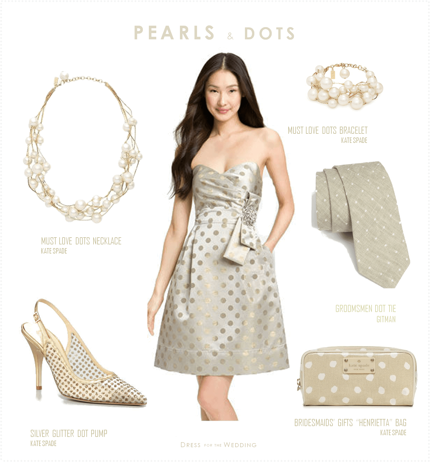 pearls and polka dots