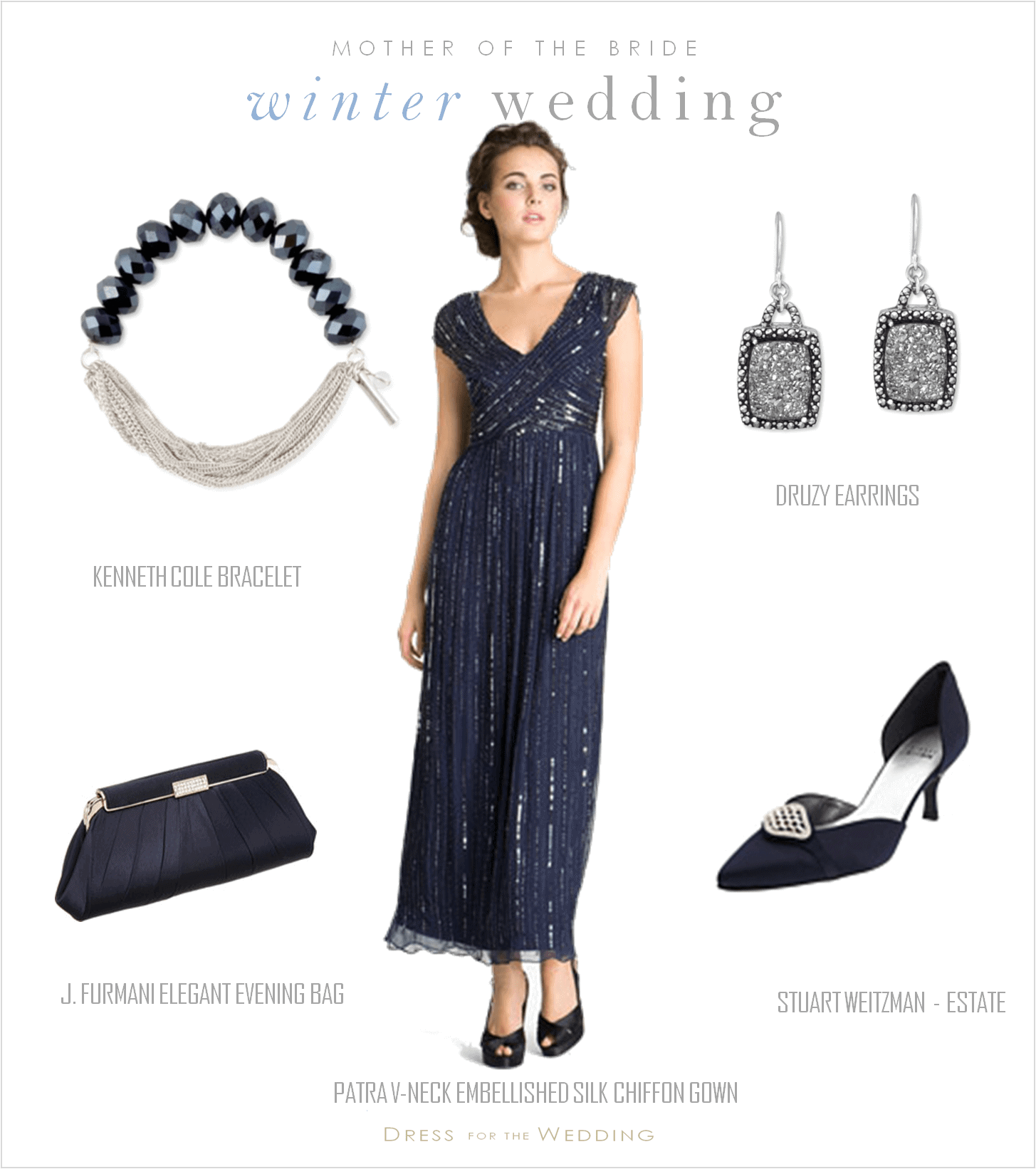 Navy Blue Mother of the Bride Dress | Dress For A Holiday Wedding