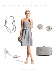 Gray Bridesmaid Dress: Winter Wedding Look