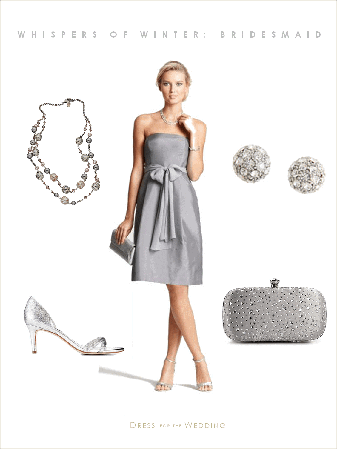 Gray bridesmaid dress winter wedding for Gray dresses for a wedding