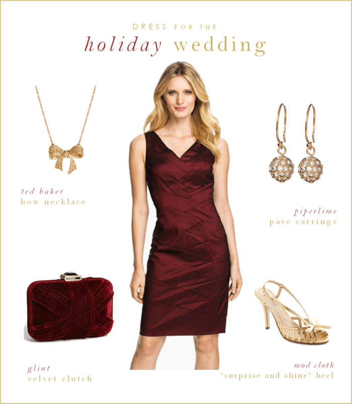 Burgundy Holiday Dress for a Wedding