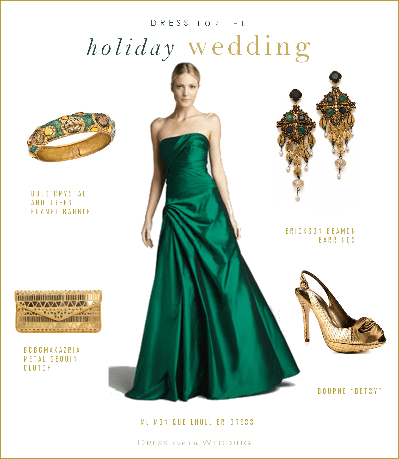 Emerald green gown dress for the wedding for Emerald green dress wedding guest