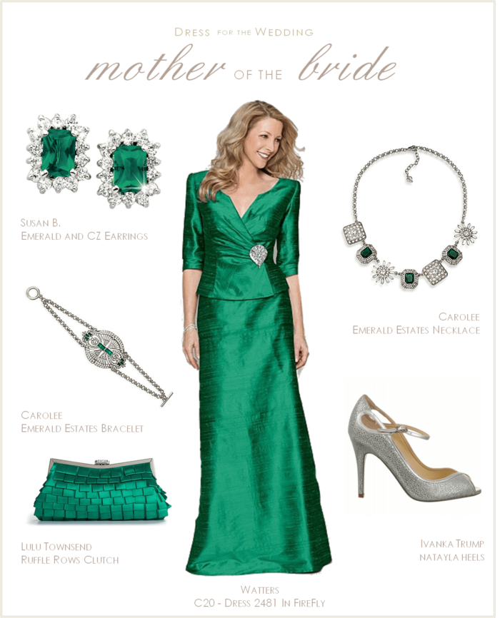 080cef70738 Mother of the Bride Dress  Emerald Green