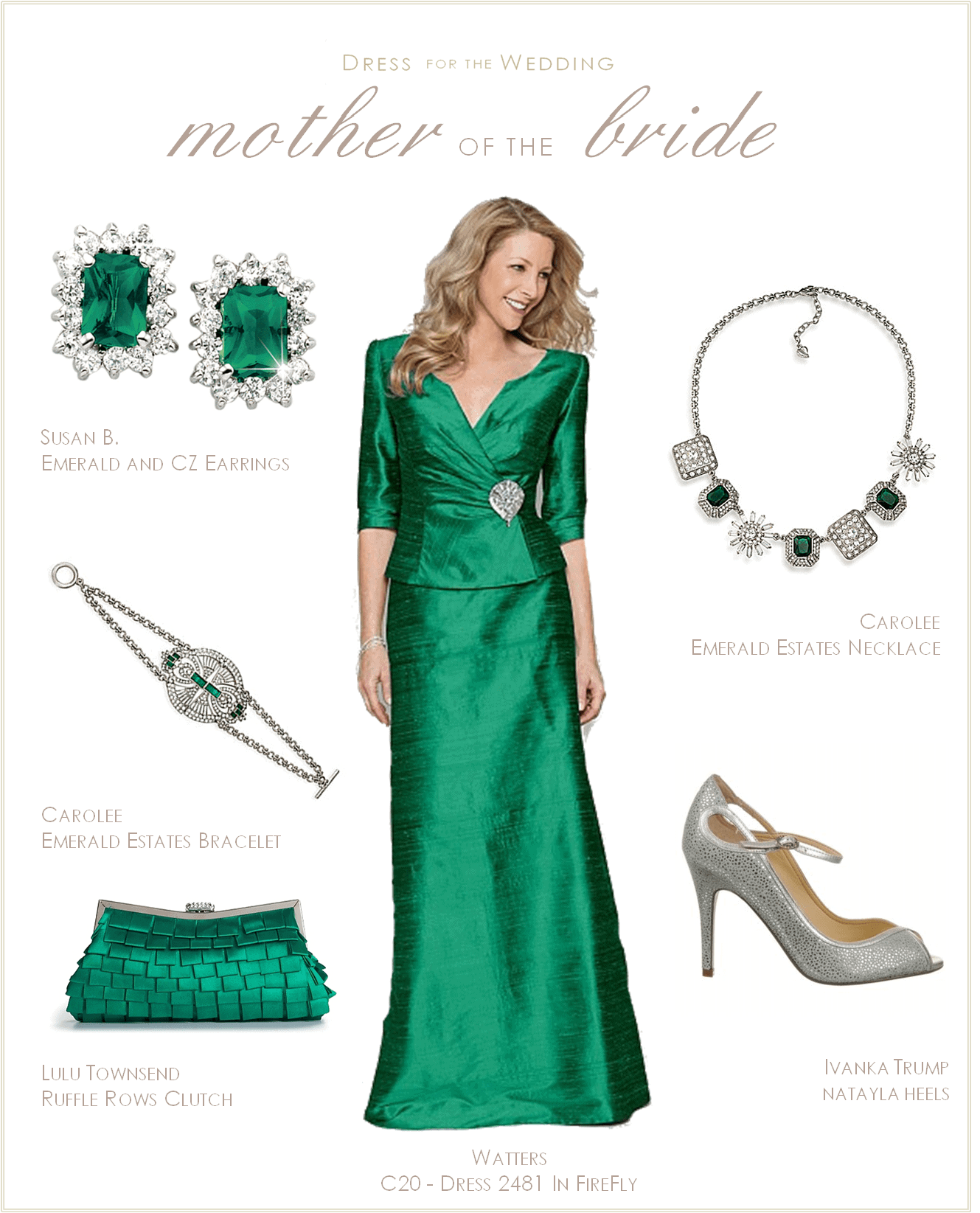 Emerald Green Mother of the Bride Dress