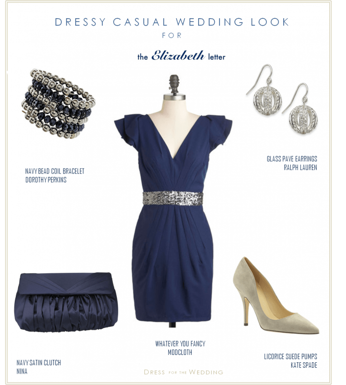 Navy Dress for December Wedding