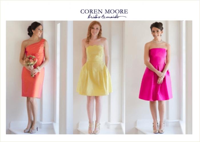 Coren Moore Short Bridesmaids Dresses