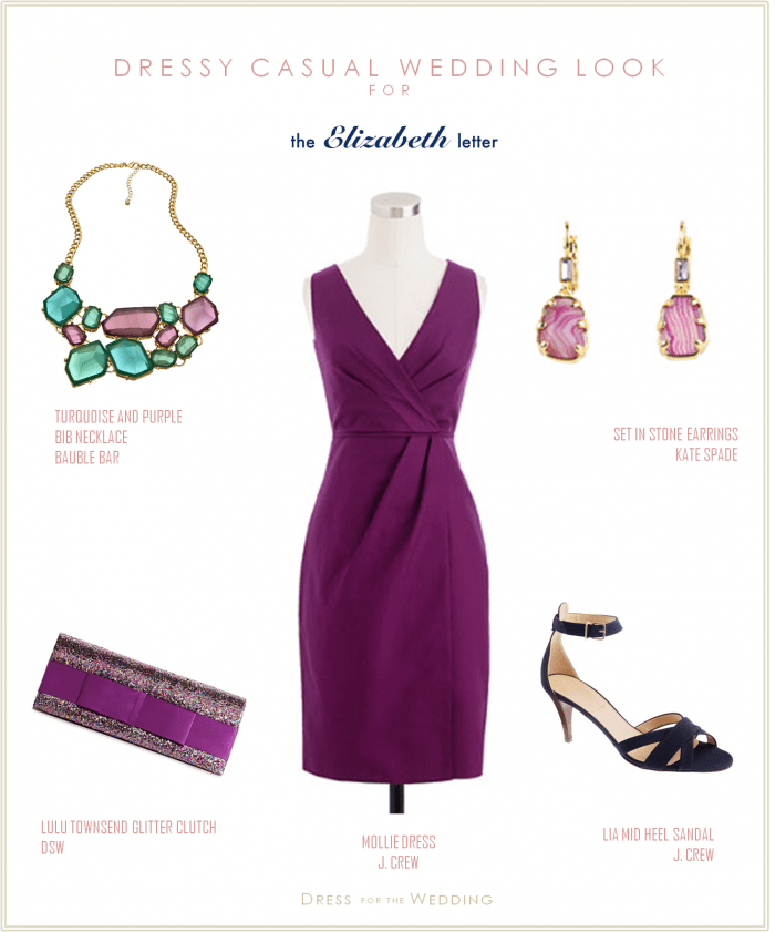 Purple Dress For A Wedding Guest With Pink Light Blue And Navy