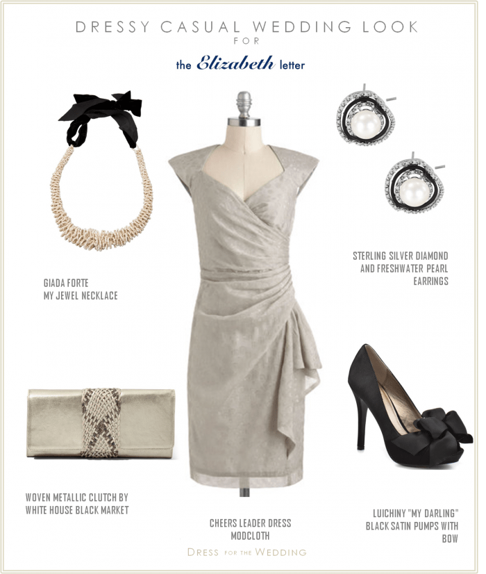 Gray wedding guest dress dressy casual december wedding for Silver dresses to wear to a wedding