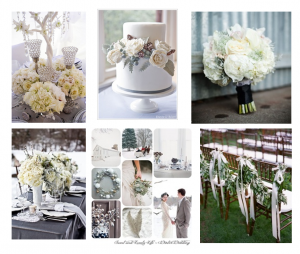 Silver, Gold and Green Wedding Colors