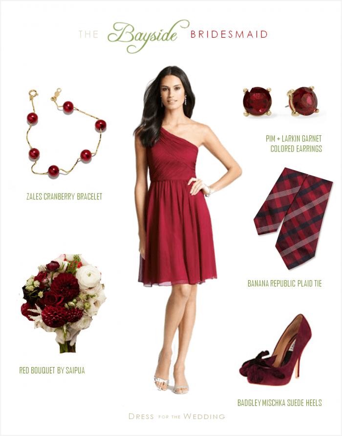 27d3b0662a Cranberry Red Bridesmaid Dress