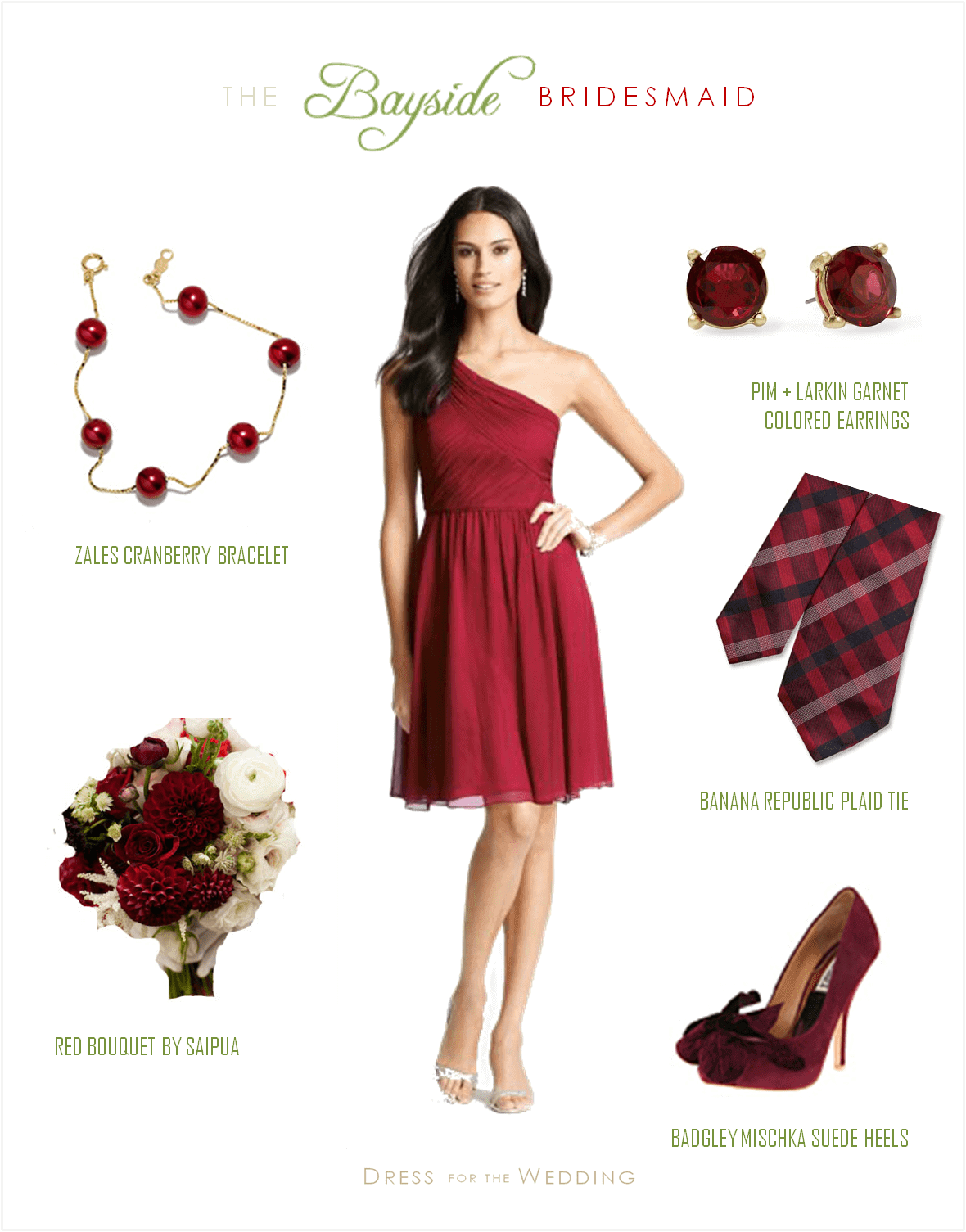 Cranberry Red Bridesmaid Dress