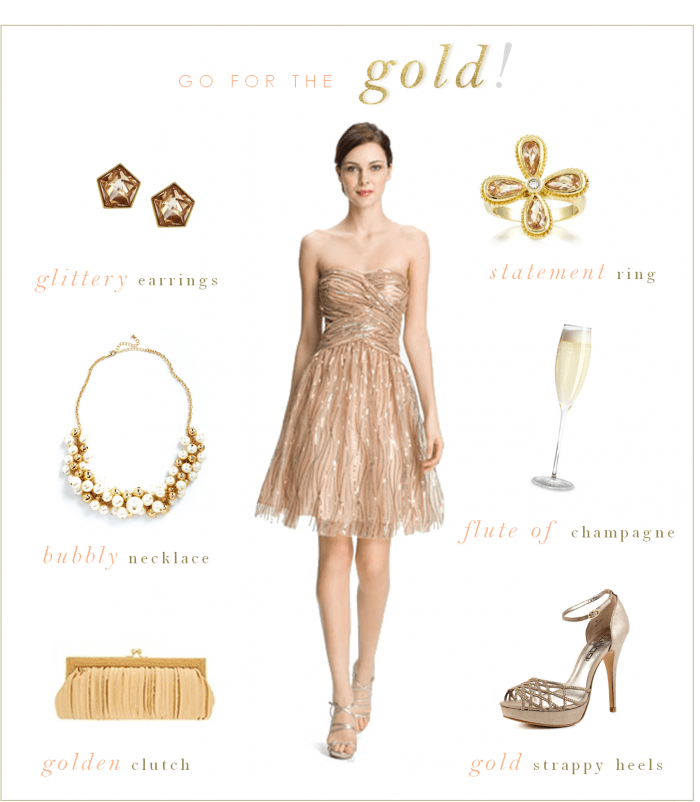 gold dress golden sequins for champagne wedding look