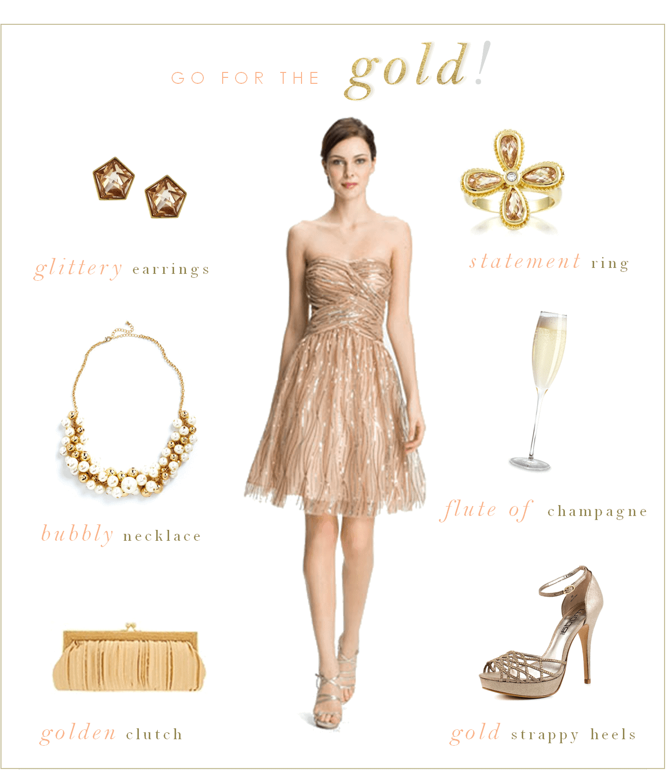 What Color Shoes To Wear With A Gold Sparkly Dress