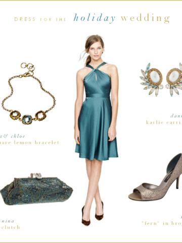 Blue Green Wedding Guest or Bridesmaid Dress