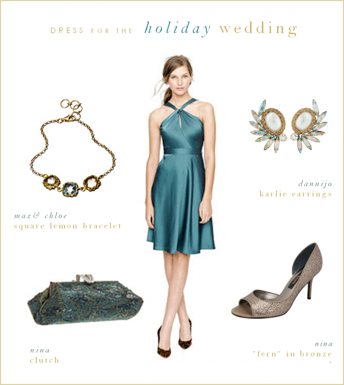 Blue Green Wedding Guest or Bridesmaid Dress