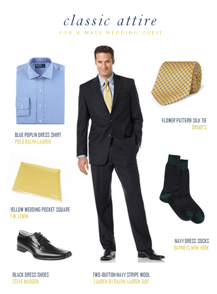 Male Wedding Guest Classic Attire