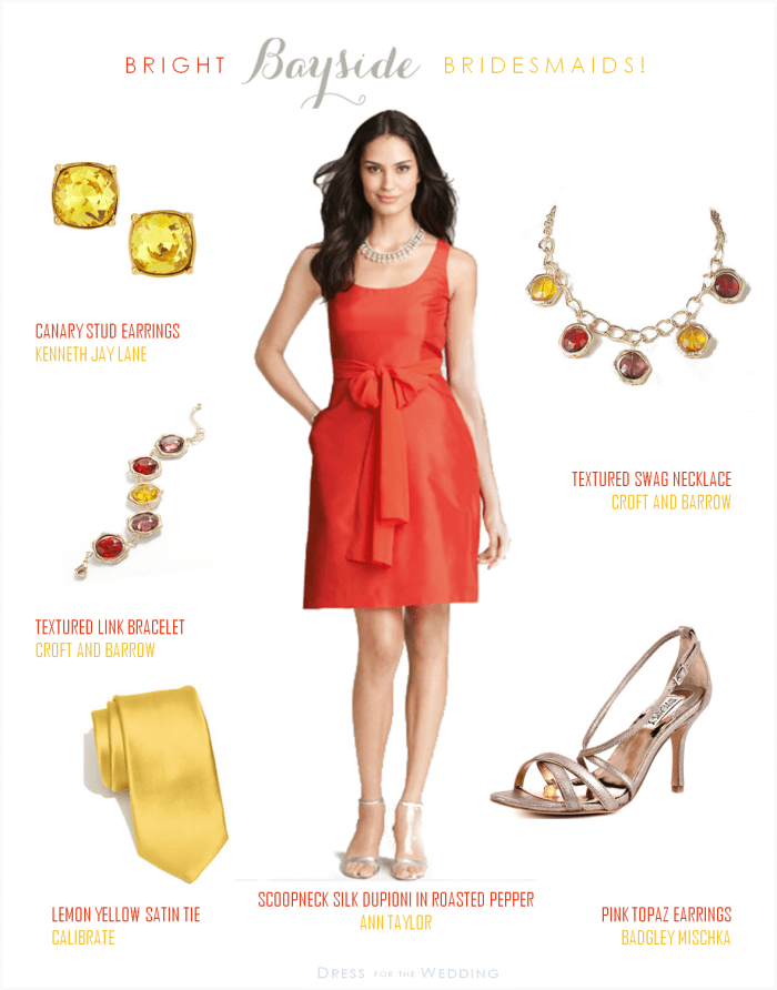 Accessories for lemon yellow dress