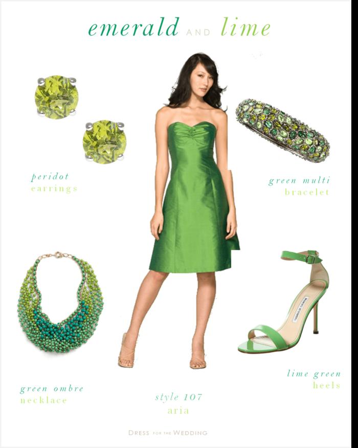 Emerald Green Bridesmaids Dress and