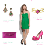 Emerald Green and Hot Pink