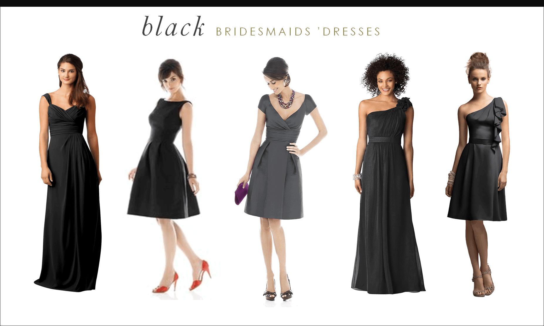Reader request black bridesmaids dresses for Weddings with black bridesmaid dresses