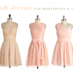 Blush Dresses For Bridesmaids and Wedding Guests