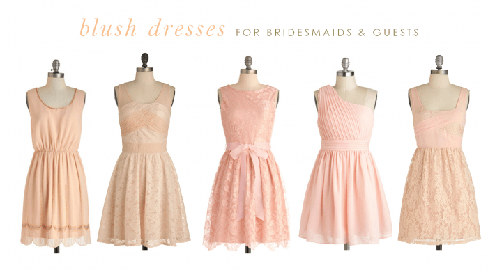 Used Wedding Dresses Under 100 Jewellery : Blush dresses for a wedding bridesmaids and guests