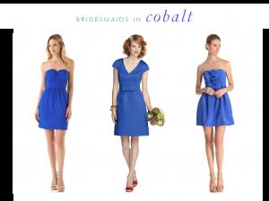 Cobalt Bridesmaids Dresses