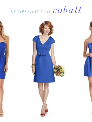 Cobalt Bridesmaids Dresses