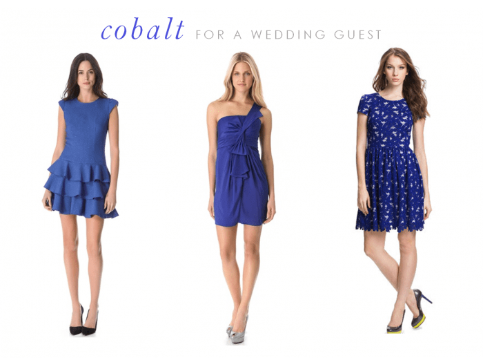 Cobalt Blue Wedding Guest Dresses