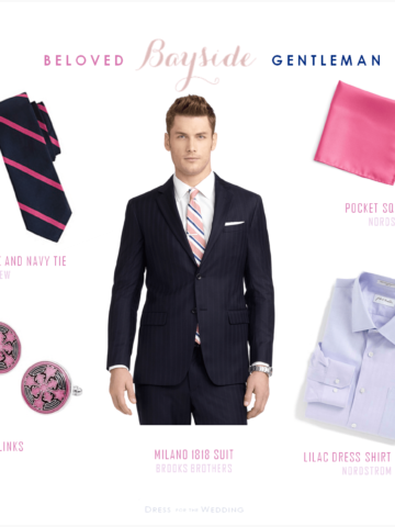 Groom in Navy and Pink