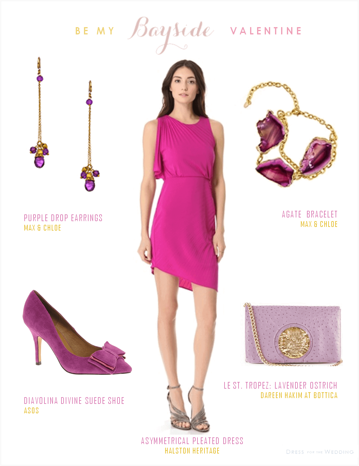 Hot pink dress for a wedding guest for Dress as a wedding guest